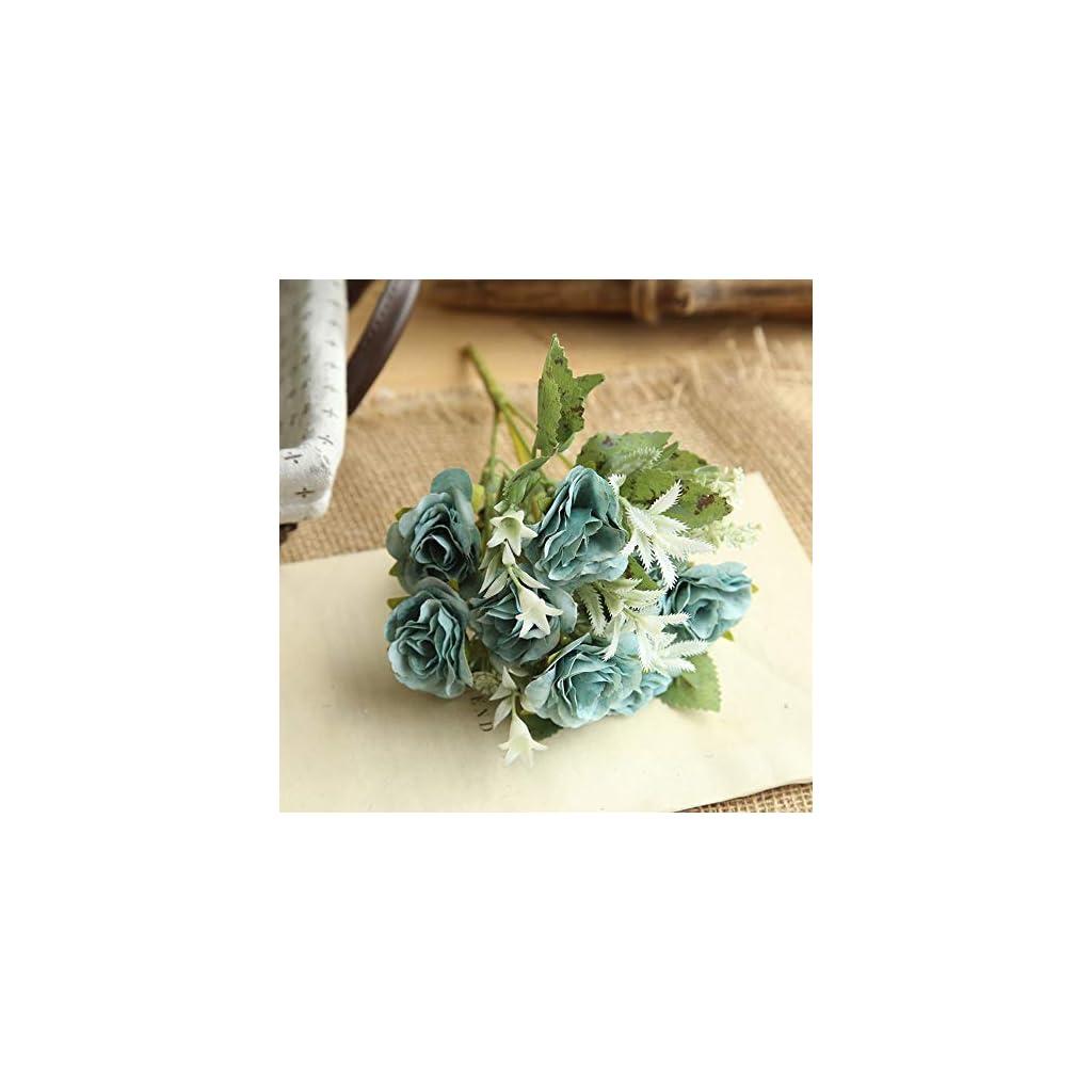 Iulove 8 Heads Artificial Fake Peony Silk Flower Bridal Hydrangea Home Wedding Decor BU