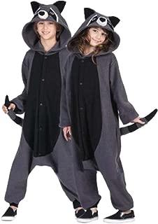 Unisex Gray Raccoon Pajamas Adult Animal Cosplay Costume
