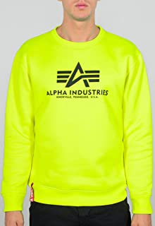 Alpha Industries Basic Neon Sweatshirt Neon Yellow M