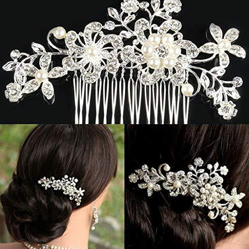Gaddrt Haarnadel Haarklammer Haarband Braut Hochzeit Kristall Haarschmuck Clips Kamm Perlen Pins...