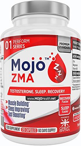 MOJO ZMA kapseln Zink Magnesium Vitamin B6 Ergänzungsmittel Verbesserte Muskelleistung Kraft Erhöht den Testosteronspiegel Schlafhilfe für einen erholsamen