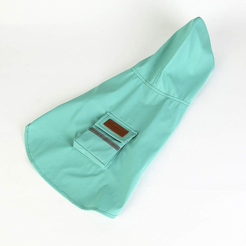 LSLMCS Pet Dog Hooded Raincoat,Waterproof Jacket Cat Dog Hood Rain Coat,Poncho Rain Cover Jacket Rainwear Clothes Reflective Lightweight for Large Medium Dog (color   bluee, Size   6XL)