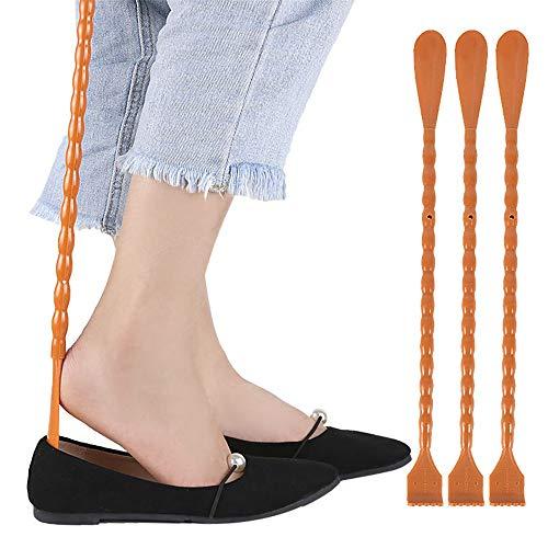 YLiansong-home Schuhhornschuh-Ankleidehilfe Bitten Sie Nicht nach Menschen, die Dual-Use-Schuhe zu kratzen. Erwachsene Männer und Frauen eignen Sich für Gürtelschuhe (46 cm) Lange Griff schlanke Form