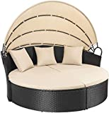 Homall Patio Furniture Outdoor Daybed with Retractable...