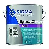 SMALTO A SOLVENTE SIGMETAL ZINCOAT 3in1 - per zinco, alluminio, leghe leggere, metallo ferroso e superfici in PVC rigido (2,5 LT COLORATO)
