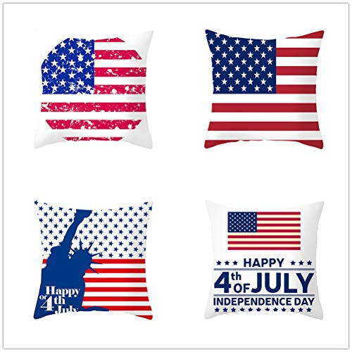 Set of 4 Pcs Throw Pillow Case Cushion Covers Red Five-Pointed Star Velvet Soft Superfine Fiber Square Decor Throw Pillowcases for Living Room Sofa Car with Concealed Zip E4200 60x60cm/23.4x23.4in