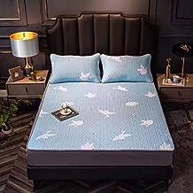 Latex Mat Printing Cooling Summer Sleeping Mat with Pillow Shams Mattress Protector Sheet Summer Foldable Comfortable,Dove...