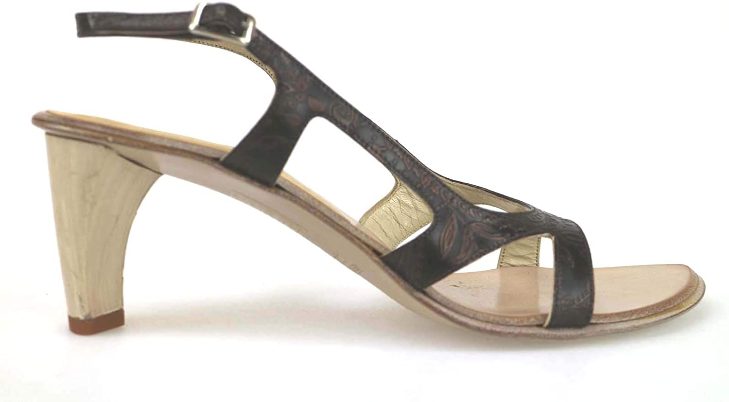 LATITUDE FEMME Pumps-shoes Womens Leather Brown 8 US