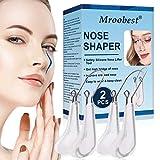 Nose Clip, Nose Shaper, Nasenformer, Nasenlifterclips für die oberen Nasen, 2PCS Nose Bridge Straightener Corrector, schmerzfrei, mit weichem Silikon