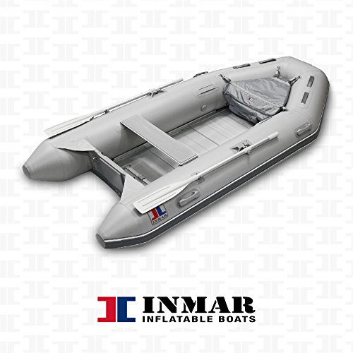 """Great Price! INMAR 10'6"""" Dinghy Tender Inflatable Boat - 320-TS 5 Passenger Grey Boat Inflatable..."""