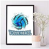 enpingan Volleyball Kunstdruck Sport Poster, Volleyball