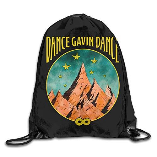shenguang Dance Gavin Dance Mochilas con cordón Mochila Escolar Saco de cincho Deportivo Natación Viajes Bolsas de Gimnasia