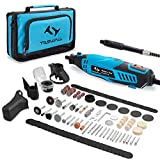Tilswall Rotary Tool Kit 160W with 6-Level Variable Speed 145pcs Accessories Electric Drill Set for...