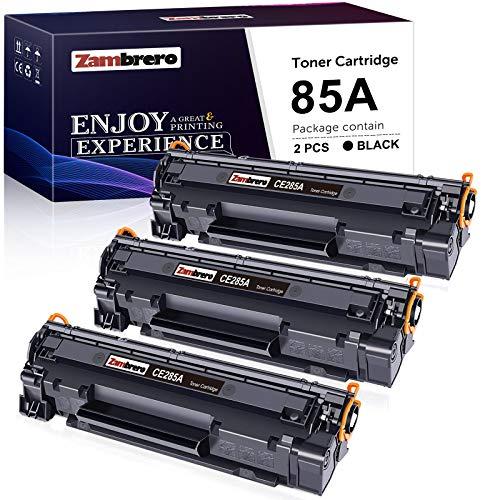 Zambrero CE285A 85A Cartucho Tóner Compatible para HP Laserjet Pro P1102W P1102 P1005 P1109W P1109 P1100 P1006 P1108 M1132 M1212nf M1217nfw M1136 M1130 M1134 M1210, Canon LBP3010 LBP6000 (3 Negro)