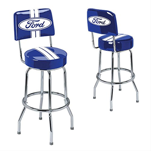Ford Stripes Backrest bar Stool