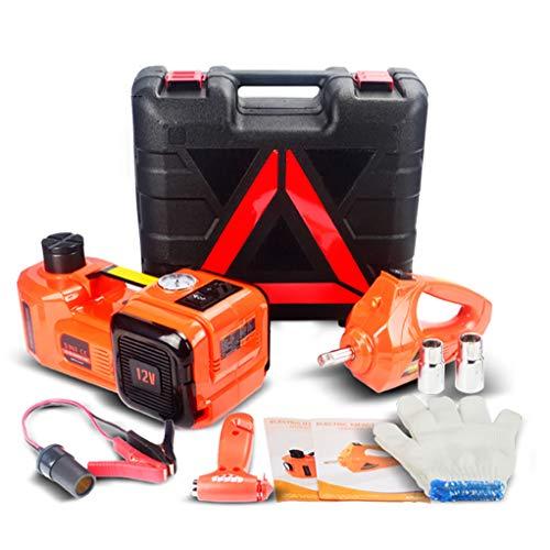 Elektrische krik automatische hebehydraulische draagbare auto paratiegereedschap 5 ton nooduitrusting voor zware belasting met elektrische slagmoersleutel voor reparatie van voertuig en voor banden