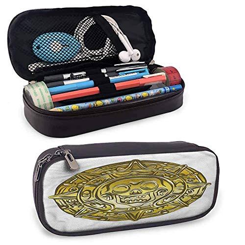 Bolsa de lápices pirata Medallón suave con calavera aterradora Fácil de llevar