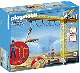 Playmobil Construcción - Grúa con Radio Control, Juguete Educativo, Amarillo, 60 x 15 x 50 cm, (5466)