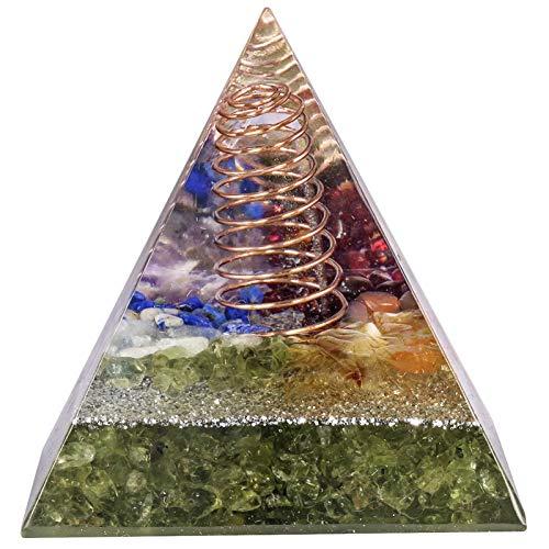 ZTTT Pyramidenhandwerk Schmuck für Glücksglück Geschenk (Color : Peridot)