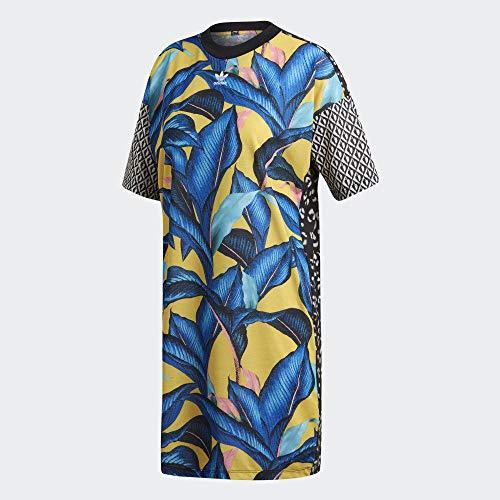Adidas dam t-shirt klänning klänning, flera färger, 34