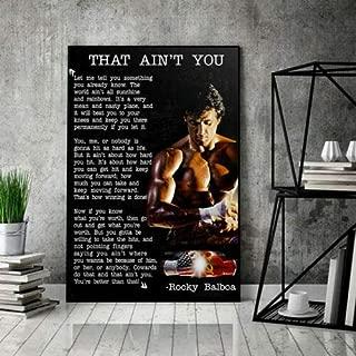 Gift Rocky Balboa That Ain't You Horizontal Paper Poster - No Frame (16 x 24)