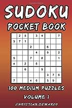 Sudoku Pocket Book- 100 Medium Puzzles - Volume 1: Handy 6 x 4 inch layout – 1 Puzzle per Page (Medium Sudoku Pocket Book)