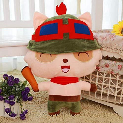 Zpong Teemo Peluche Bambola Giocattolo 35 Cm LOL Teemo The Swify Scout Peluche Morbido Peluche Gioco Figura Giocattolo per Natale Regali Di Compleanno