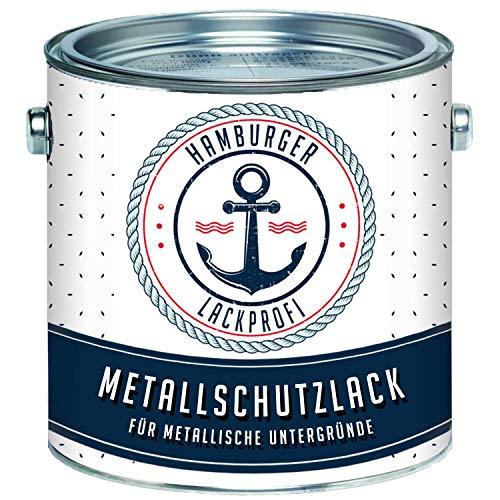 Metallschutzlack MATT Weiß RAL 9010 Metallschutzfarbe Metalllack Metallfarbe // Hamburger Lack-Profi (1 L)