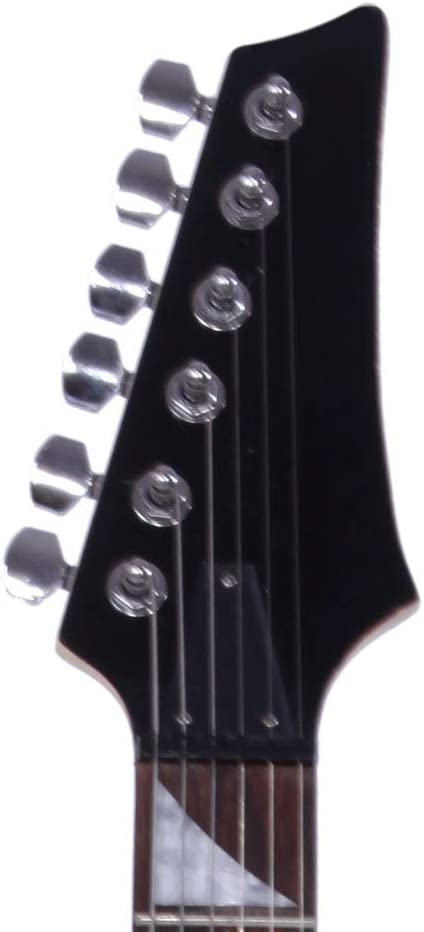 Novice Entry Level 170 Electric Guitar HSH Pickup Bag Strap Paddle Rocker Cable Wrench Tool Black