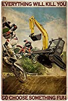 RCY-T Bike Rider ブリキサイン Vintage Bar Garage Family Cafe Wall Decoration 8x12 Inches Gift-13-8x12 inch