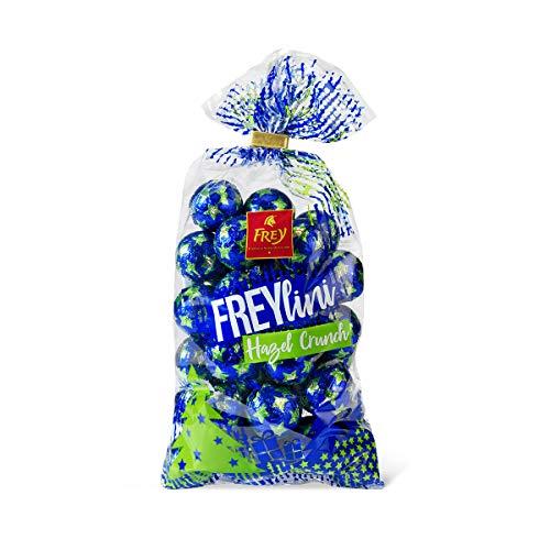 Frey Freylini Kugeln Hazel Crunch 480g - Milchschokoladenkugeln mit Haselnusskrokantfüllung - Schweizer Schokolade - UTZ-zertifiziert - Praline mit Füllung in weihnachtlicher Verpackung