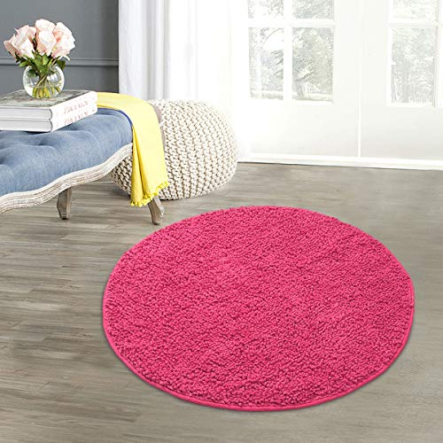 SARAL HOME EASY LIVING Plaid Bath Mat (Pink, Cotton, 60x60 cm)