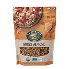 Contains 1 bag of Nature's Path Honey Almond Granola (11 oz. bag). SATISFYINGLY GOOD: Nature's Path Honey Almond Granola will make your taste buds buzz! Made with ingredients like organic clover honey, premium crunchy Californian almonds and chia see...