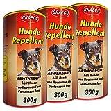 Preisjubel 3 x Hunde Repellent 300g, Abwehrduft gegen Hunde, Hundeschreck, Hundeschutz