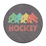 Babies Retro Hockey Pop Art Anti-Rutsch-Matten Zirkular Teppich Mats Esszimmer Schlafzimmer Teppich Fußmatte 59,9cm