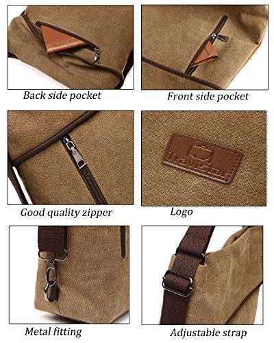 Travistar Women Multifunction Shoulder Bag- Canvas Rucksack Backpack Crossbody Casual Daypack