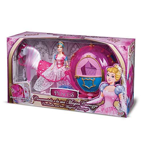 Grandi Giochi GG02960, Cenerentola con Cavallo e la Sua Magica Carrozza, Colore Rosa