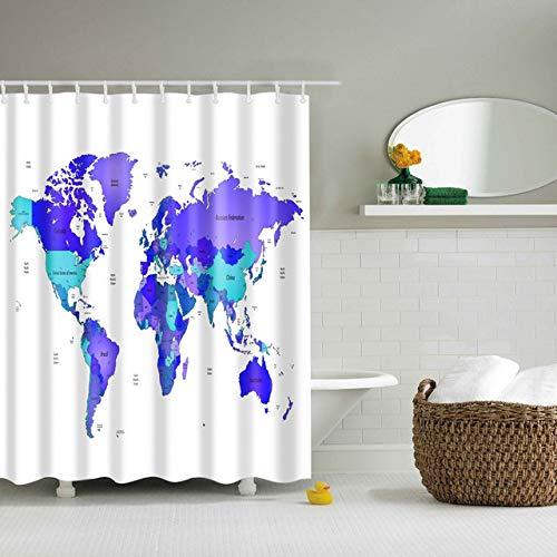 xkjymx Duschvorhänge Kreative duschvorhang 3D Bad Muster Duschvorhang Bad Einzeldruck Wasserdicht
