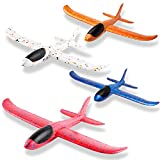 WATINC 4Pcs 14.5inch Airplanes, Manual Throwing Outdoor Sports Toys for Challenging, Children Games...