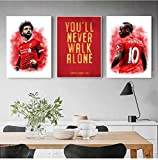 ZLARGEW Liverpool FC Motto Fußball Poster Kunst Leinwand