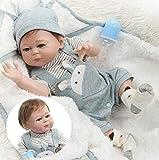 Reborn Baby Dolls Boy Full Body Silicone Baby Doll 20inches Newborn Anatomically Correct Boy Doll Eyes Open