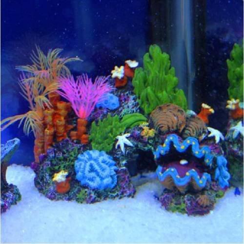 Generic yc-uk2–151124–19 1& 5470* 1 NT 14Cmank cave de Tank cave Sucker montato decorazione acquario coral Reef Fish ornamento 14cm Sucker Moun