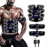 Skysep Ajustable ABS Electroestimulador Muscular Abdominales, 6 Modos y 9 Niveles de Intensidad EMS Estimulador Muscular para Abdomen/Cintura/Pierna/Brazo Perdurable