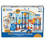 Learning Resources City Engineering and Design Building Set, Engineer STEM Toy, 100 Pieces, Ages...