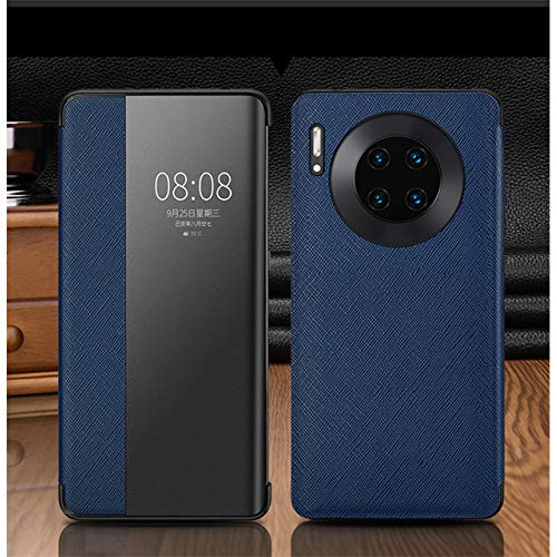 WALCD Flip Smart View Window TouchFunda de teléfono, para Huawei P30 Mate 30 20 X 5G Pro Lite