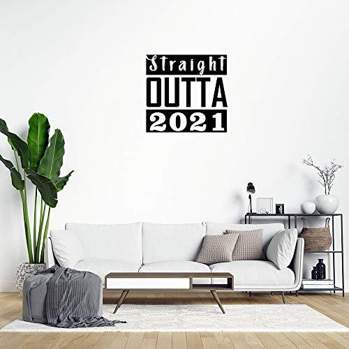 Pegatinas de pared removibles Straight Outta 2021 para decoración del hogar para dormitorio, aula, sala de estar, oficina