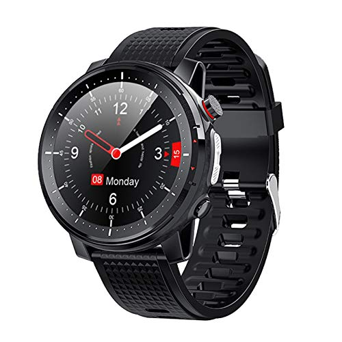 YYZ Nuevo L15 Smart Watch Men's 1.3 Pulgadas Ajuste Completo Retina Retina Mostrar Music Control Cámara Linterna Smartwatch IP68 Impermeable,A