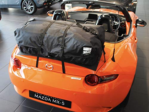 Mazda Miata ND Trunk Rack Luggage Rack : Unique Waterproof Luggage Bag Straps to Trunk Lid. UK Made Since 2008