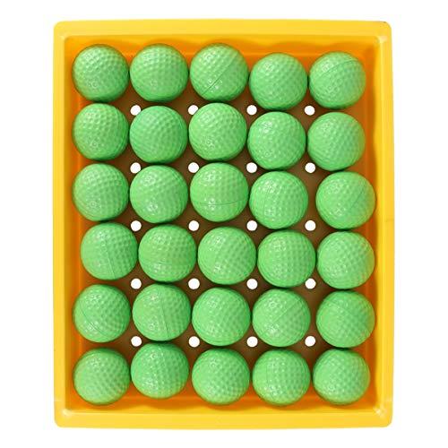 CLISPEED 30 Stücke Golfbälle PU Quetschball Lakebälle Teichbälle Golf Trainingsbälle Übungsbälle Farbige Spielbälle Squeeze Ball für Indoor Outdoor Golf Training Übung Bälle
