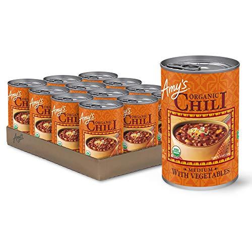 Amy's Chili with Vegetables, Medium, Vegan, USDA...